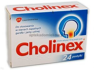 Cholinex, 24 pastylek do ssania