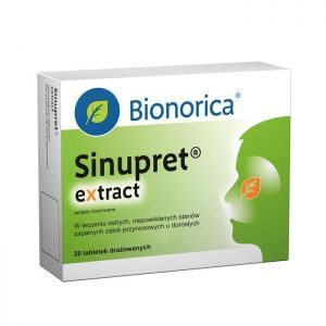 Sinupret extract, 20 tabletek