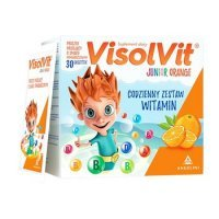 Visolvit Junior Orange granulat musujący, 30saszetek